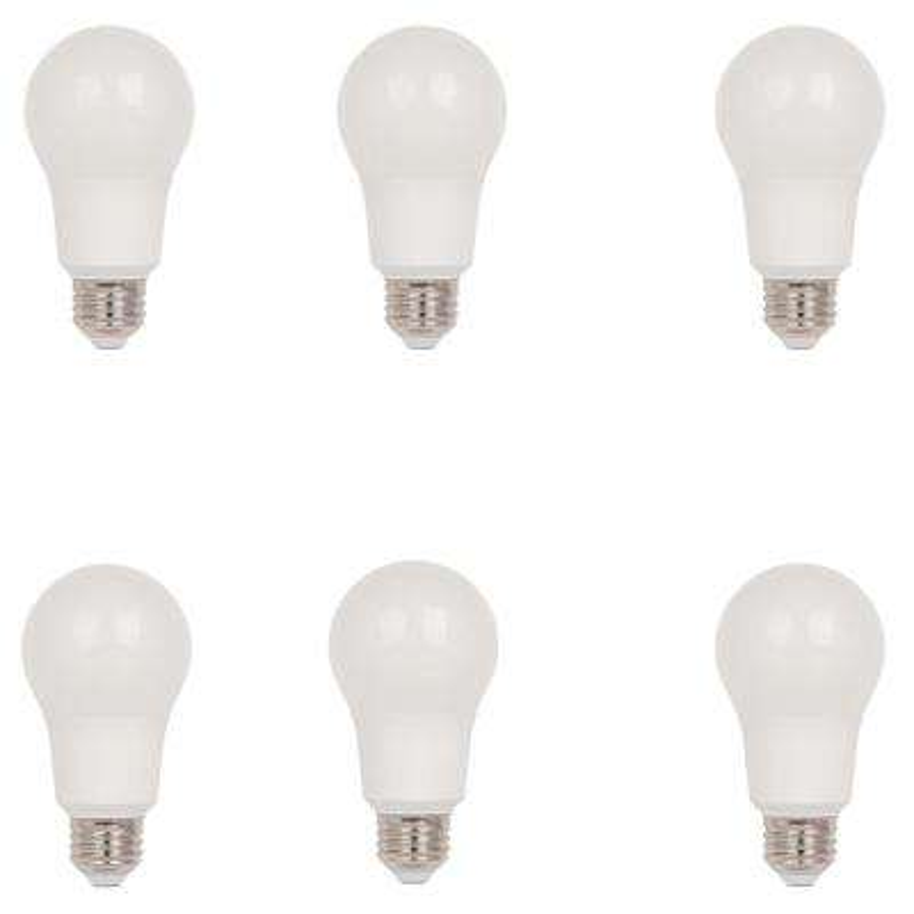 75-Watt Equivalent Omni A19 LED Light Bulb, Daylight (6-Pack)