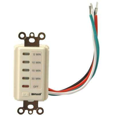 15-Amp 5-10-15-30 Minute In-Wall Countdown Digital Timer Switch, Ivory