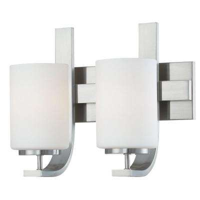 Pendenza 2-Light Brushed Nickel Bath Fixture