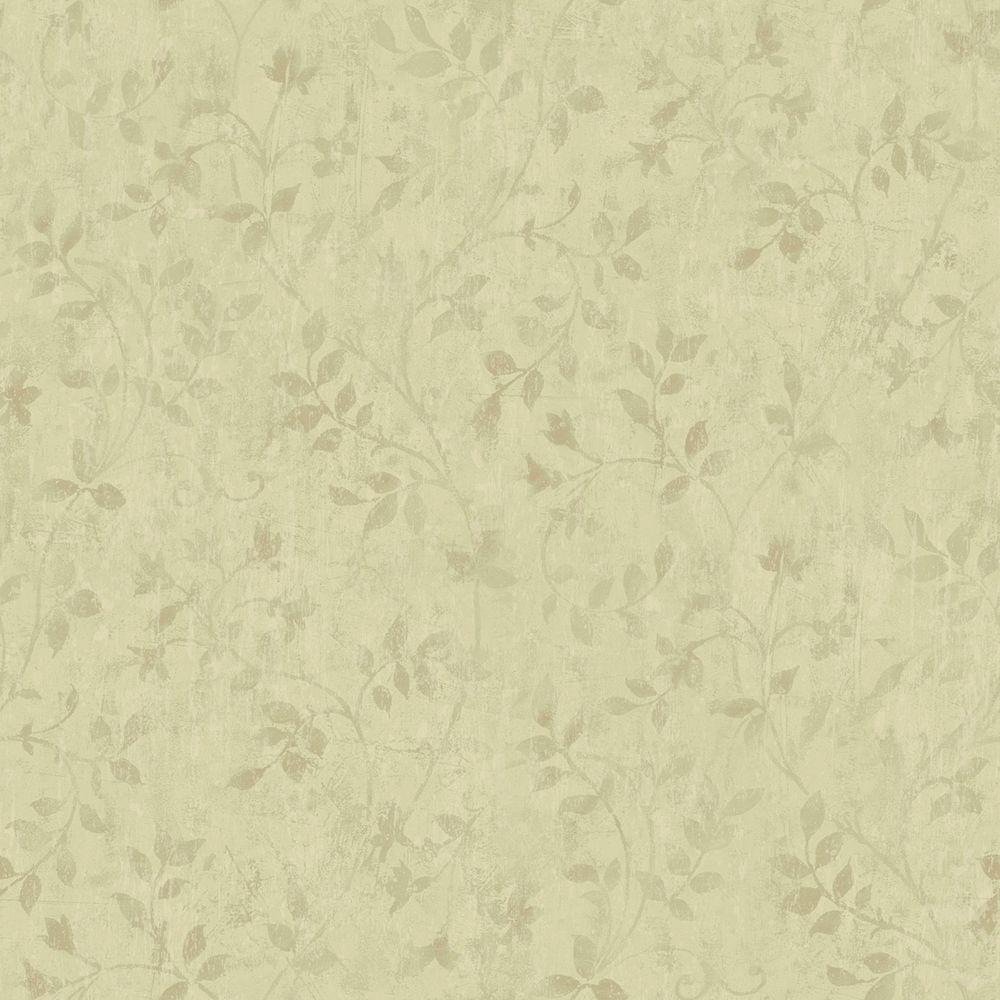 Chesapeake Vinca Olive Trailing Leaves Wallpaper Mea79143 The Home Depot