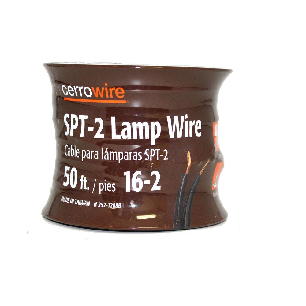 Cerrowire 50 ft. 16/2 Brown Stranded Lamp Cord