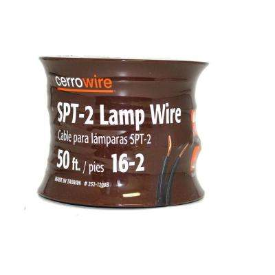 50 ft. 16/2 Brown Stranded Lamp Cord