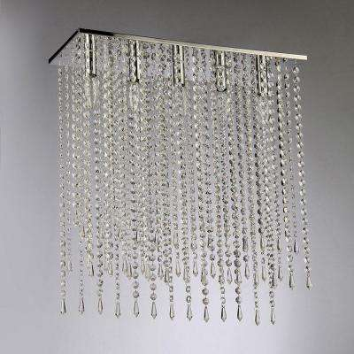 Cleave Crystal 5-Light Chrome Chandelier with Shade