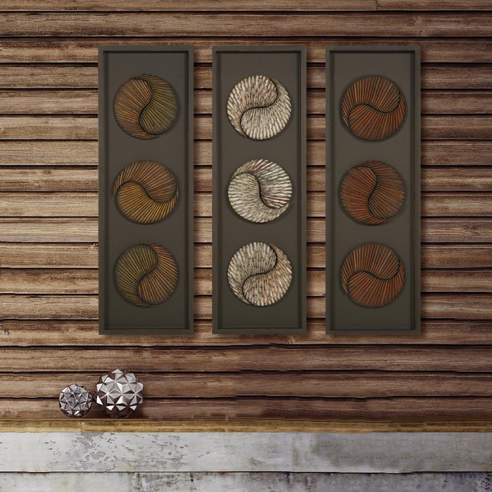 35 5 In X 12 In 3 Panel Wood Wall Art