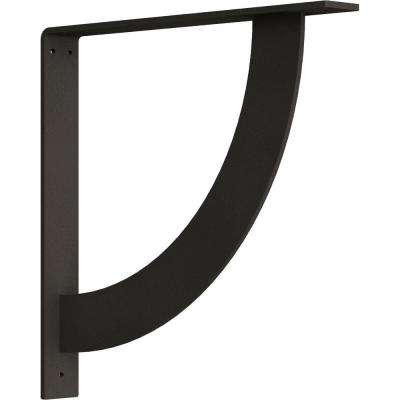 2 in. x 16 in. x 16 in. Steel Hammered Dark Bronze Bulwark Bracket