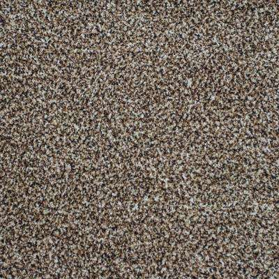 Carpet Sample - Serendipity II - Color Drizzled Cocoa Texture 8 in. x 8 in.