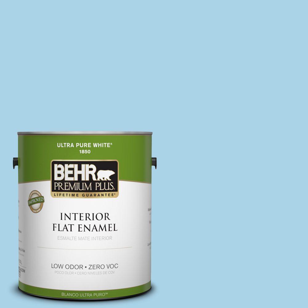 BEHR Premium Plus 1-gal. #550C-3 Monaco Zero VOC Flat Enamel Interior Paint-DISCONTINUED