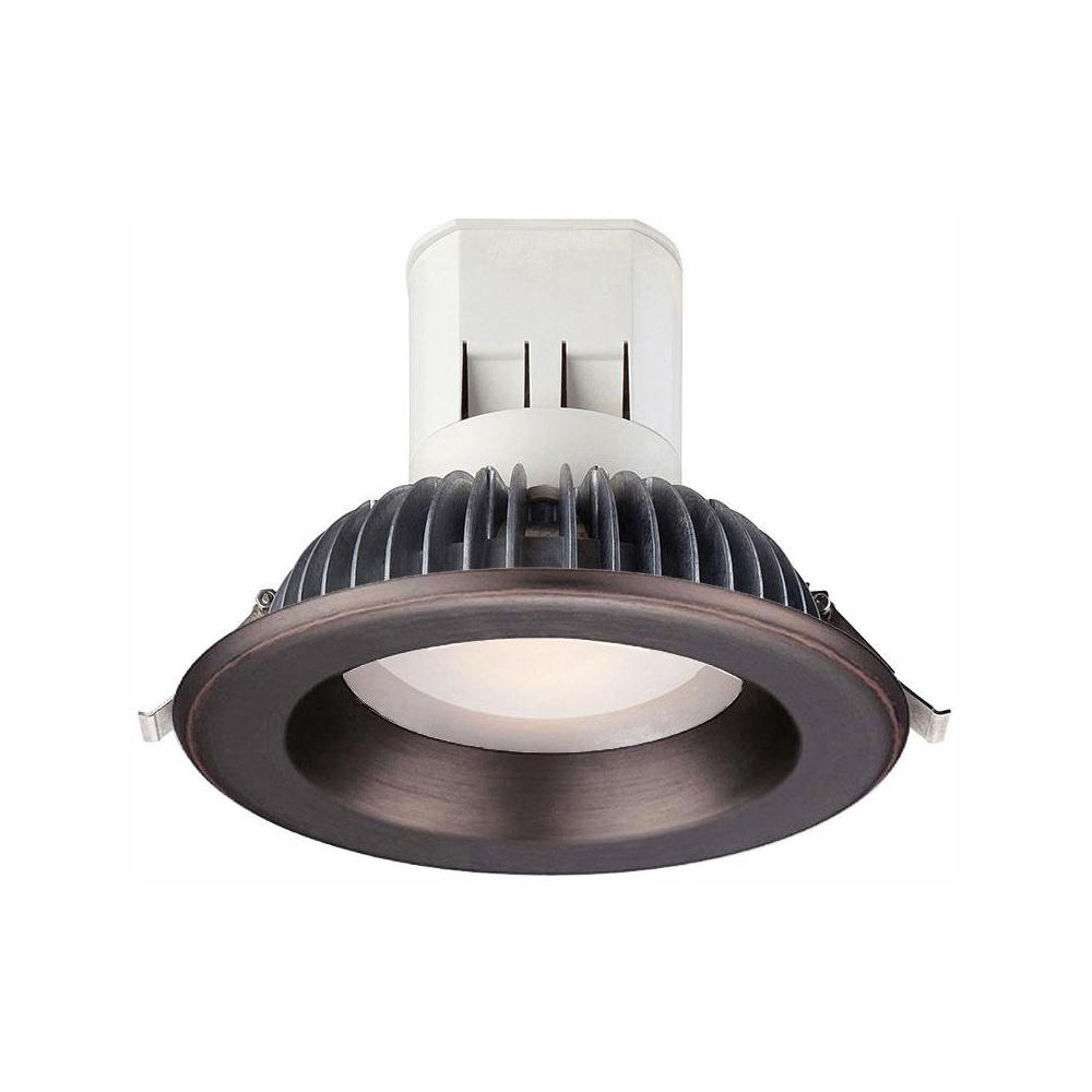Envirolite Easy Up 6 In Soft White Led Recessed Light With 93 Cri 3000k J Box Bronze Trim No Can Needed