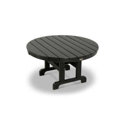 Cape Cod Charcoal Black 36 in. Round Patio Conversation Table