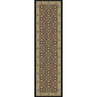 Ancient Garden Black/Ivory 2 ft. x 11 ft. Indoor Runner Rug