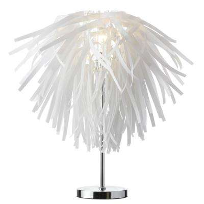25 in. White Table Lamp