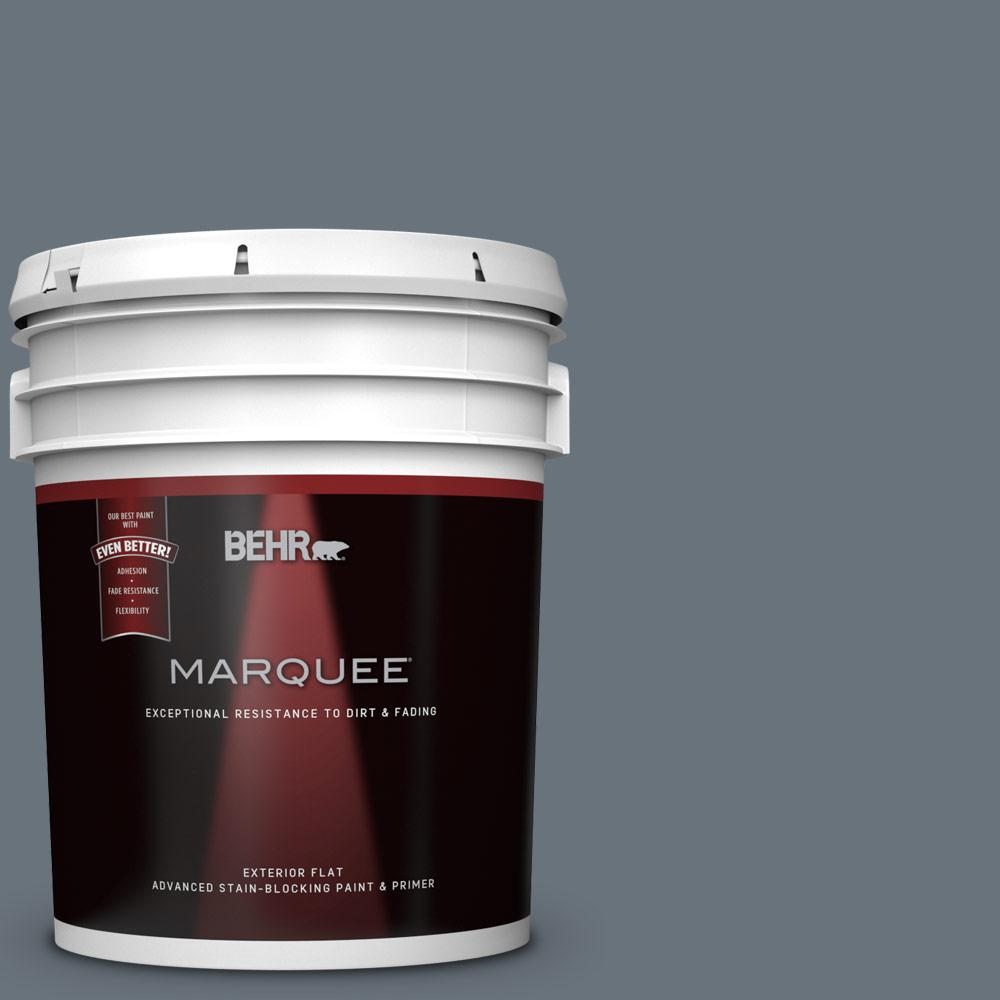 BEHR MARQUEE 5-gal. #750F-5 Silver Hill Flat Exterior Paint
