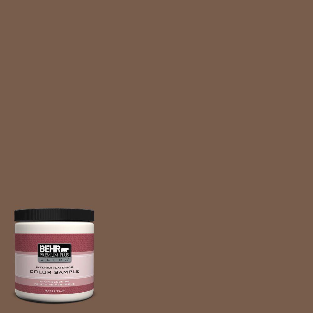 BEHR Premium Plus Ultra 8 oz. #250F-7 Melted Chocolate Interior/Exterior Paint Sample