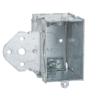 3-1/2 in. Deep Gangable Switch Box with 1/2 in KO's and B-Bracket Set Back 5/8 in. (25-Pack)
