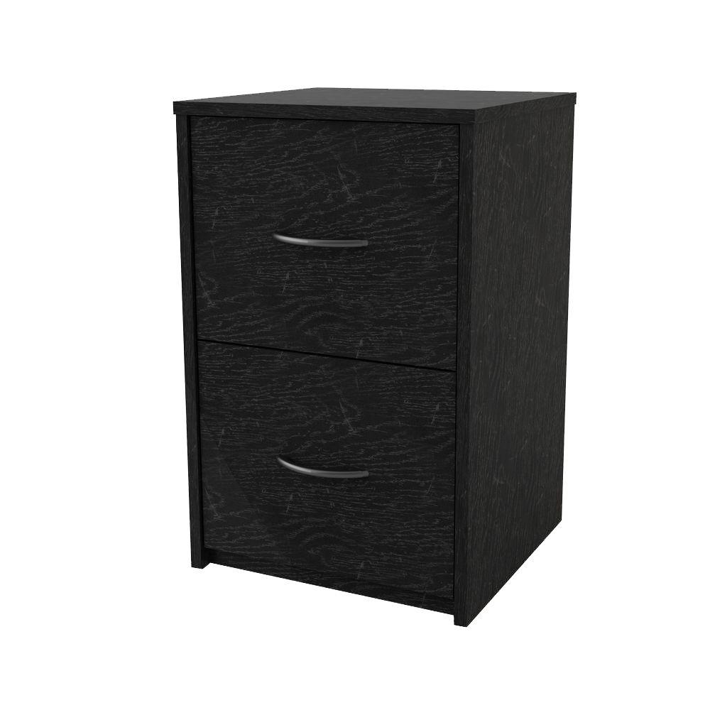 Ameriwood Black Ebony Ash File Cabinet