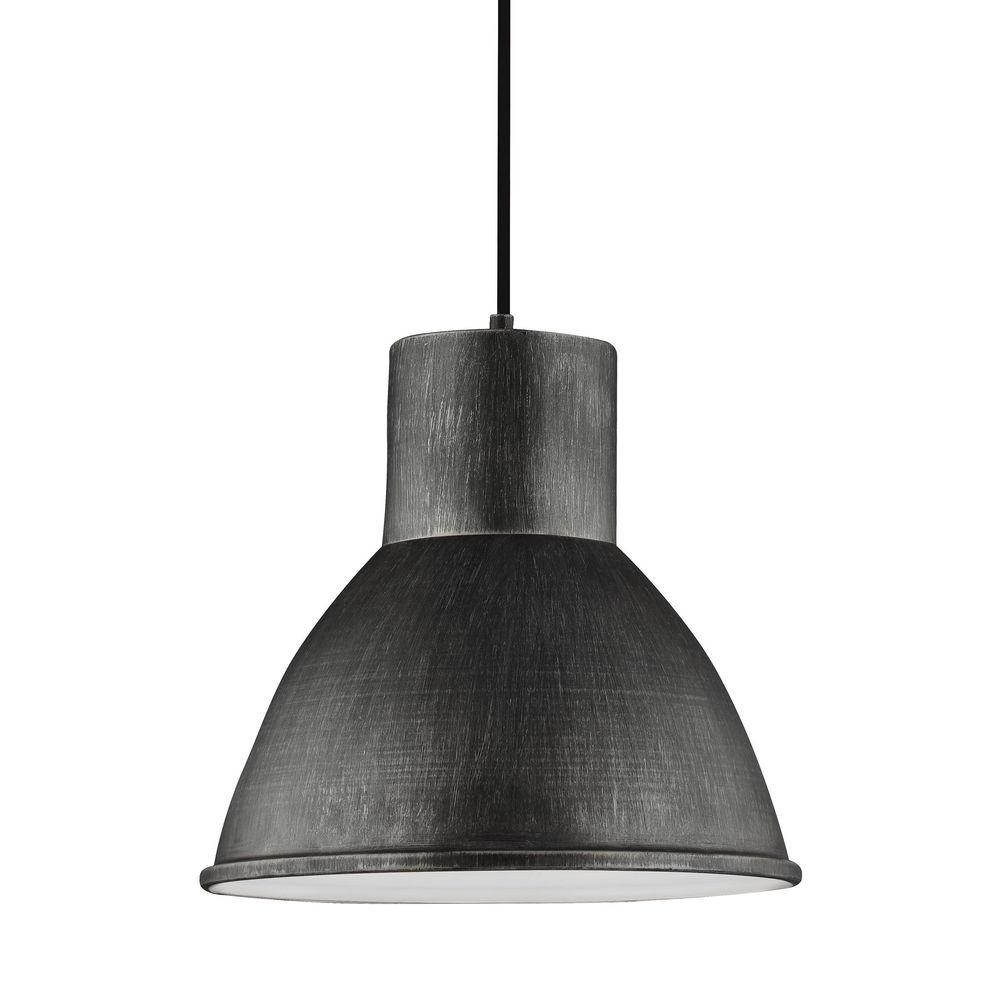 Sea Gull Lighting Division Street 15 In W 1 Light Weathered Gray Pendant
