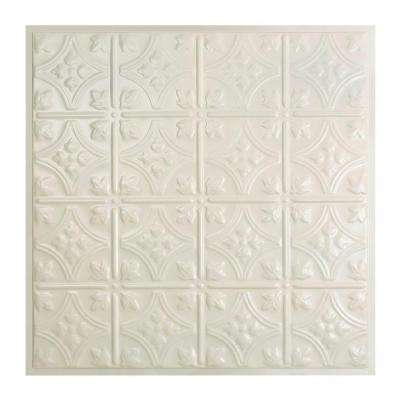Hamilton 2 ft. x 2 ft. Lay-in Tin Ceiling Tile in Antique White