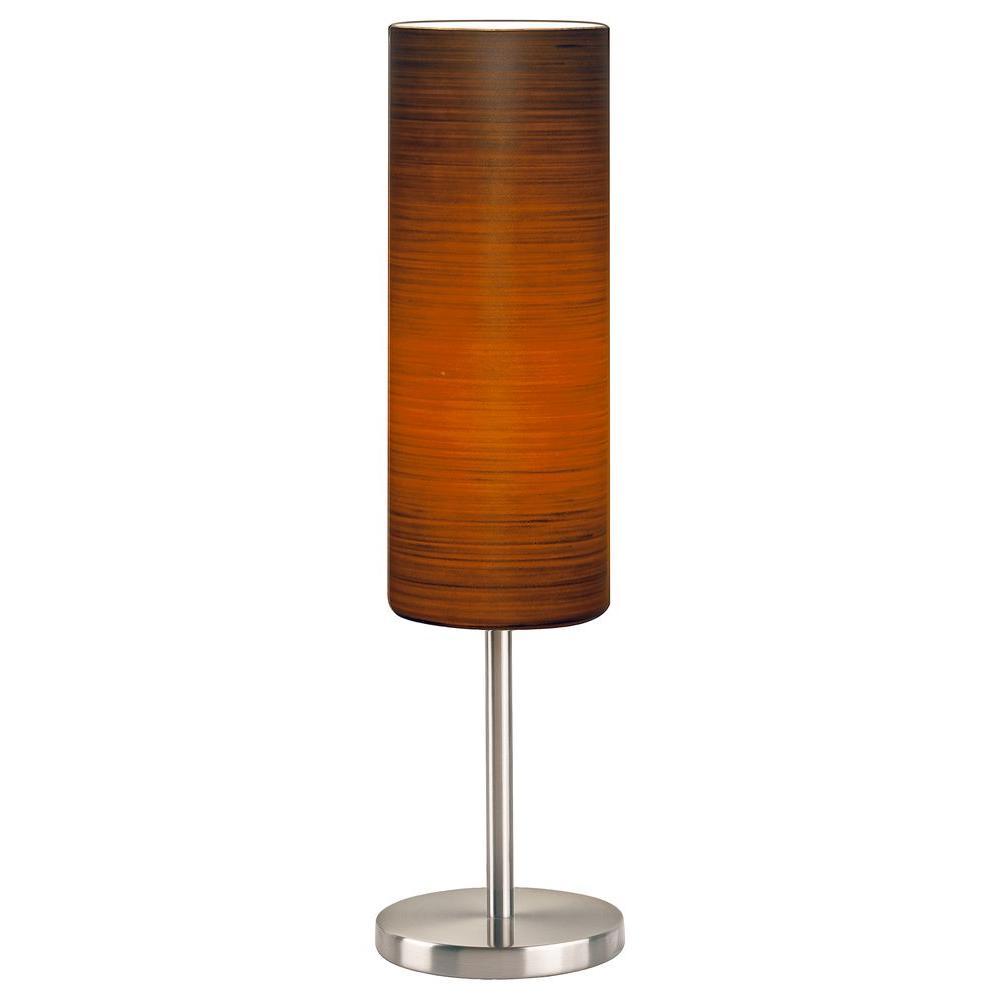 Eglo Brown Sugar 18-1/4 in. Matte Nickel Table Lamp
