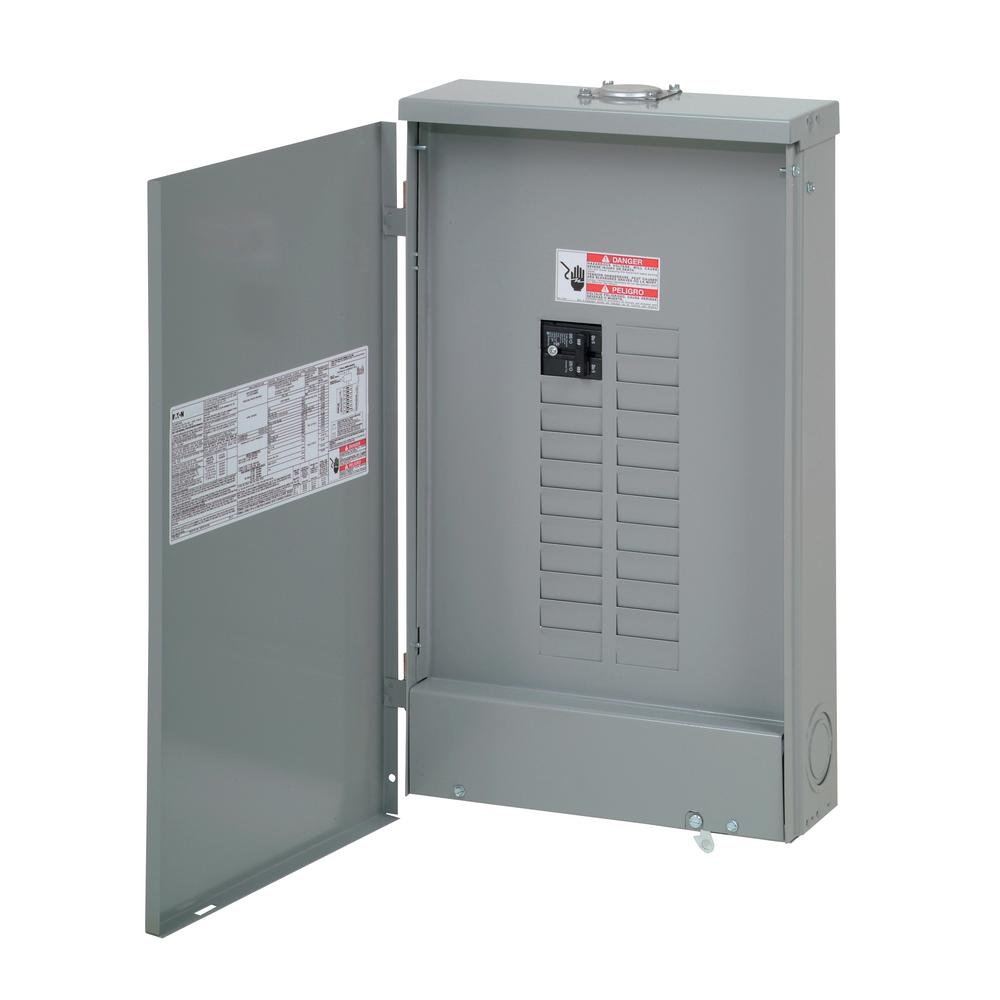 Type BR 100 Amp 20-Space 24-Circuit Outdoor Main Breaker Load Center