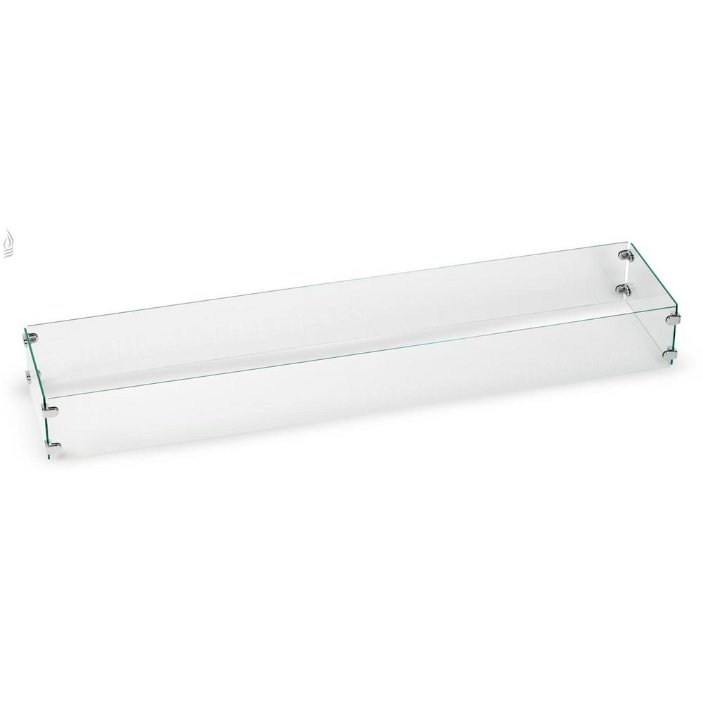 American Fire Glass Tempered Glass Flame Guard for 48 in. x 6 in ...