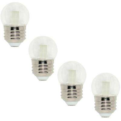 7.5-Watt Equivalent S11 LED Light Bulb Soft White (4-Pack)