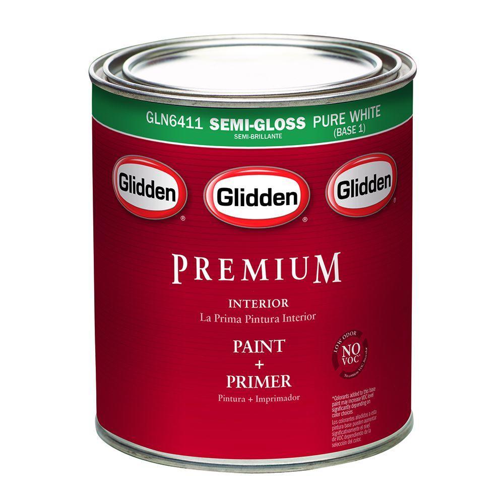 Glidden Premium 1 qt. Semi-Gloss Interior Paint