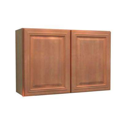 Dartmouth Assembled 36x24x12 in. Double Door Wall Kitchen Cabinet in Cinnamon