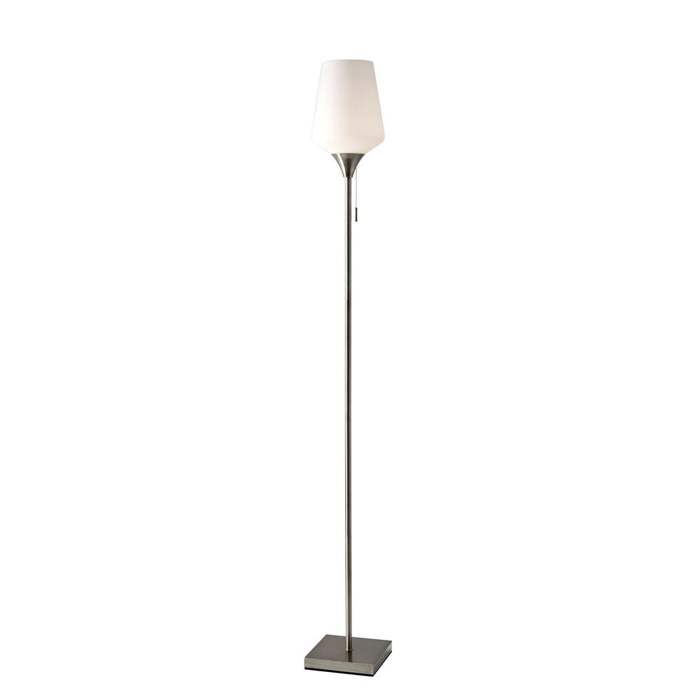 Adesso Roxy 71 In Brushed Steel Floor Lamp 4266 22 The Home Depot