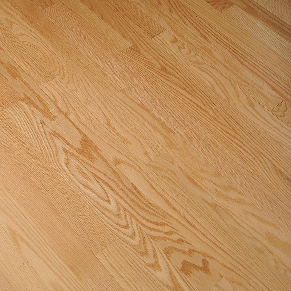 Bruce Bayport Oak Low Gloss Natural 3 4 In Thick X 2 1 4 In Wide