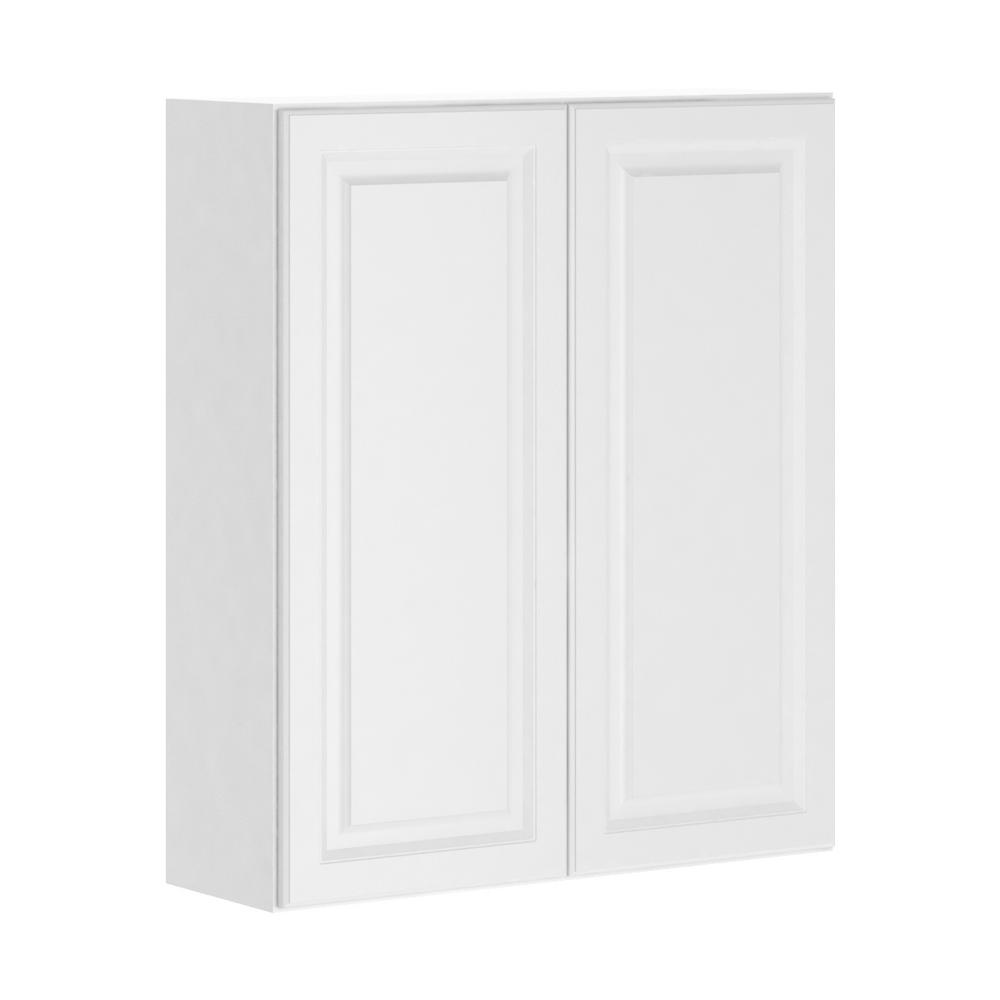 Hampton Bay Madison Assembled 36x30x12 in. Wall Cabinet in Warm ...