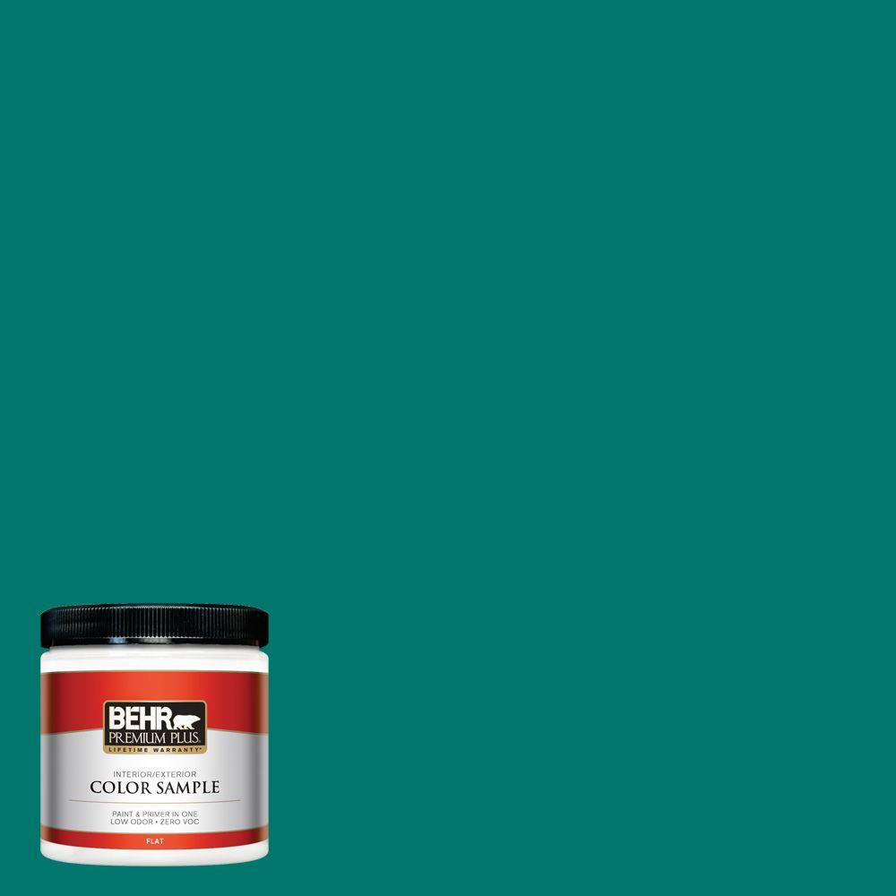 BEHR Premium Plus 8 oz. #490B-7 Mermaid Harbor Interior/Exterior Paint Sample