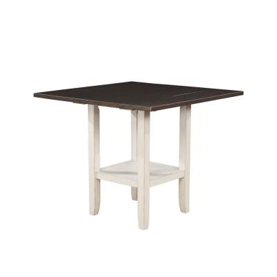 Tina Antique White With Espresso Counter Height Dining Table
