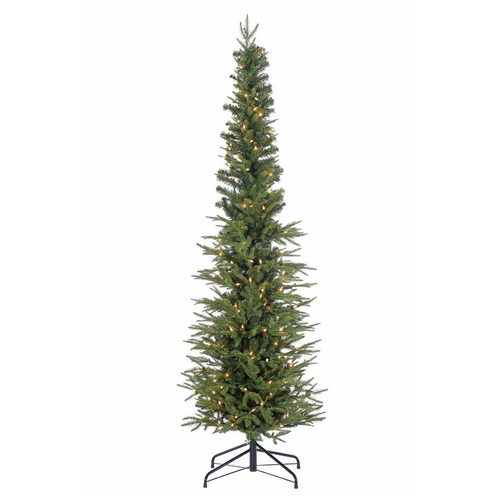 narrow artificial christmas trees 9 foot ceiling natural cut narrow lincoln pine artificial christmas tree with 200 clear lights sterling 65 ft