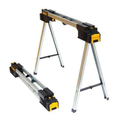 32 in. Metal Folding Sawhorse (2-Pack)