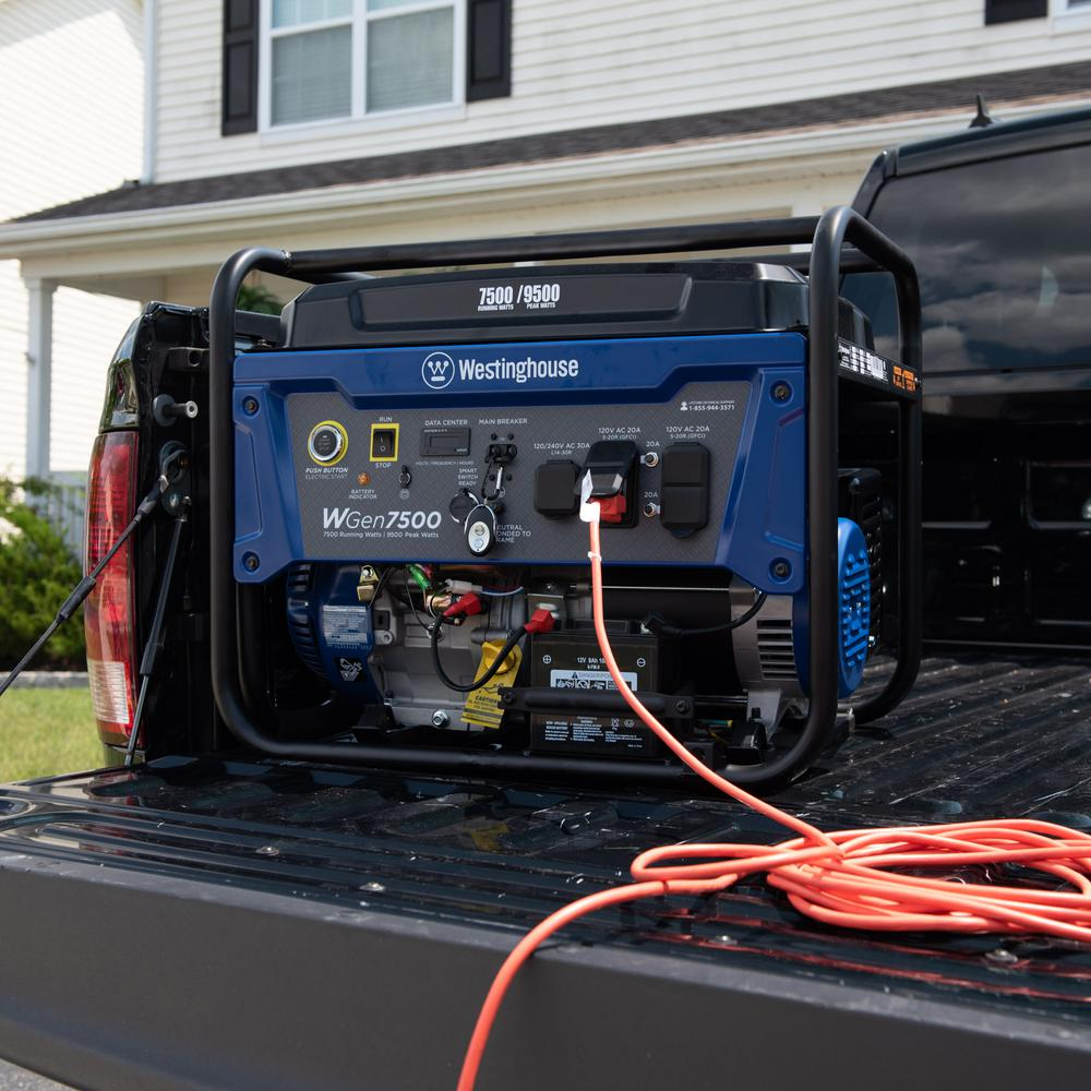 Westinghouse 9,500/7,500-Watt Gasoline Powered Portable Generator with  Electric Start and Wireless Remote Start