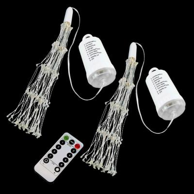 200-Light Bulbs Warm White Battery Operated Starburst LED Lights with Remote Control (Set of 2)