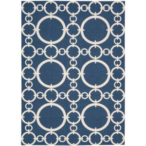 Connected Navy 8 ft. x 11 ft. Indoor/Outdoor Area Rug