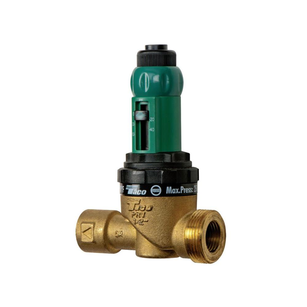 Taco in npt brass pressure reducing valve t