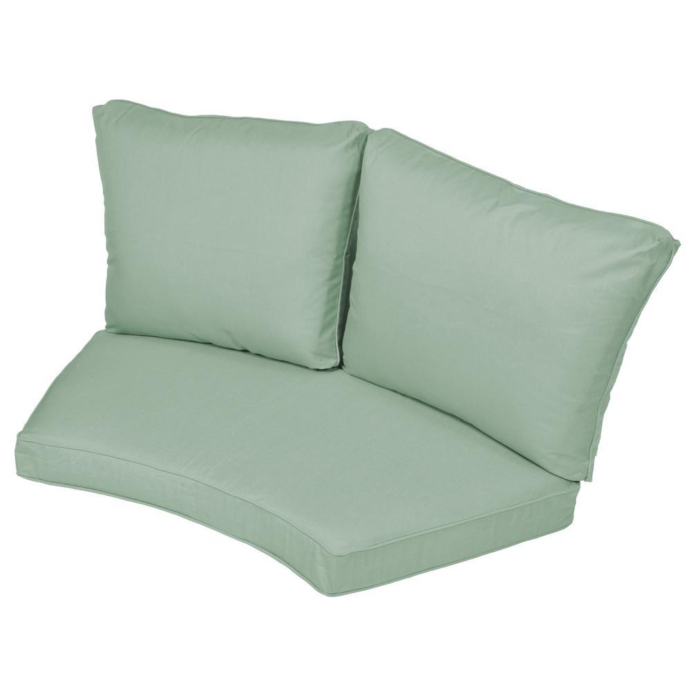 Torquay Sunbrella Spectrum Mist Replacement 2 Piece Outdoor Sectional  Cushion