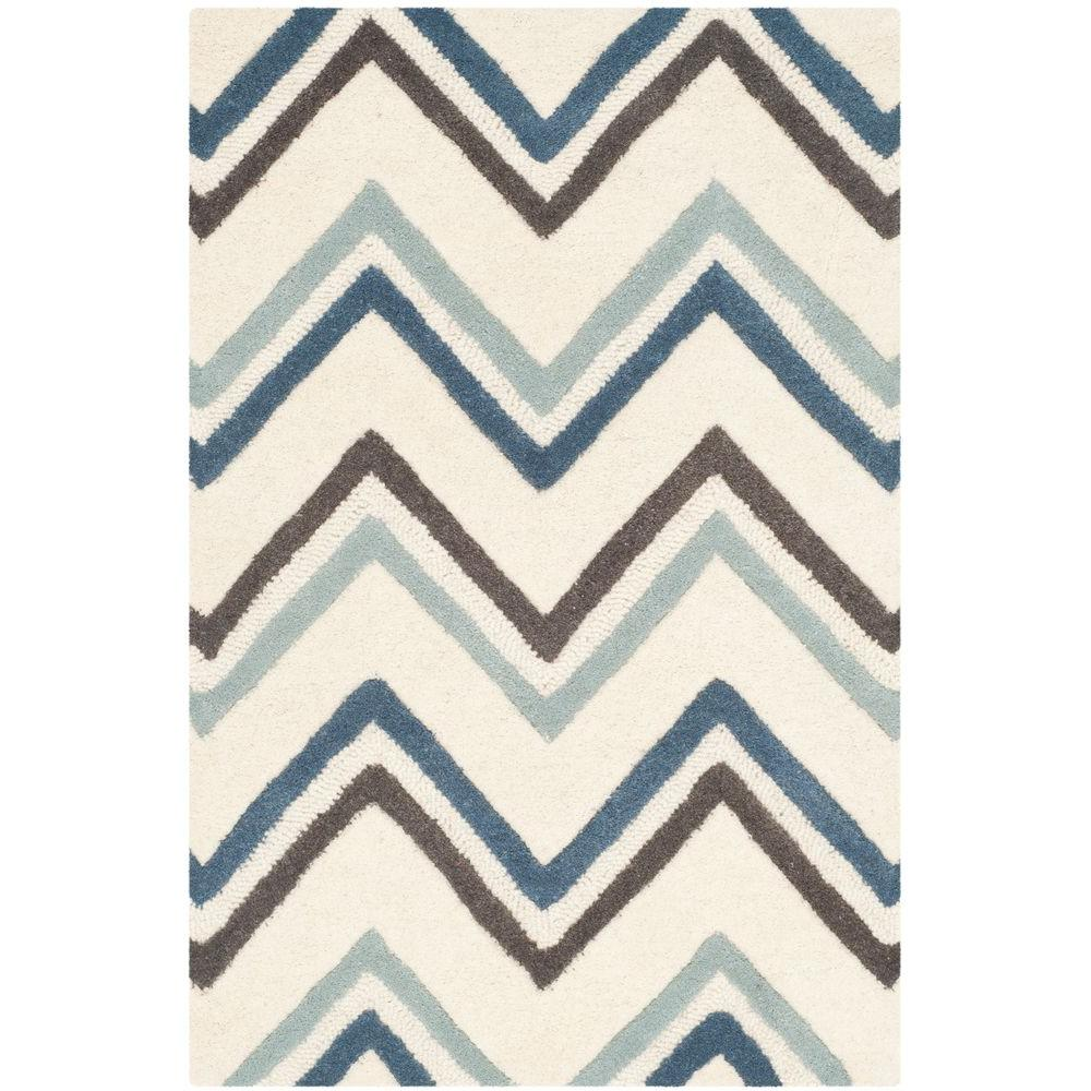 Cambridge Ivory/Blue 2 ft. 6 in. x 4 ft. Area Rug