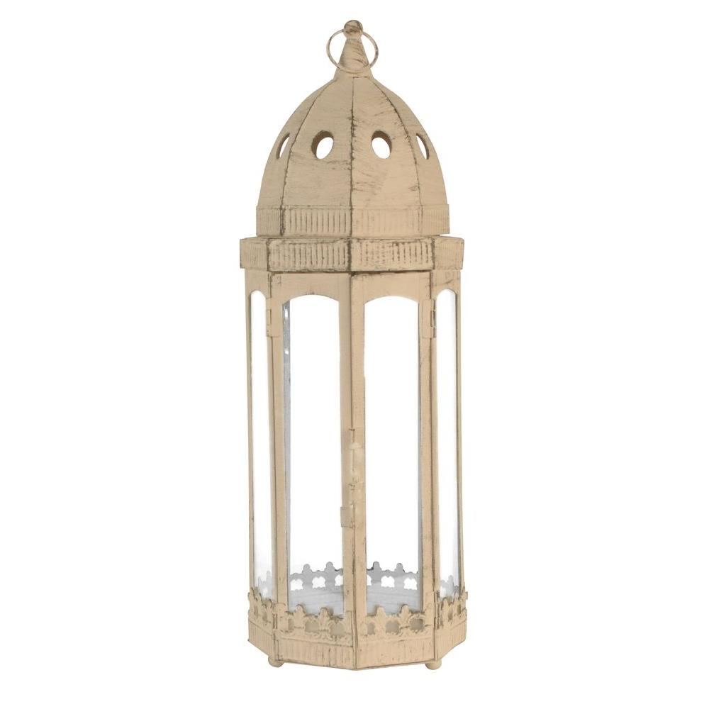 Sorrento 6 in. x 18 in. Glass and Metal Lantern Terrarium