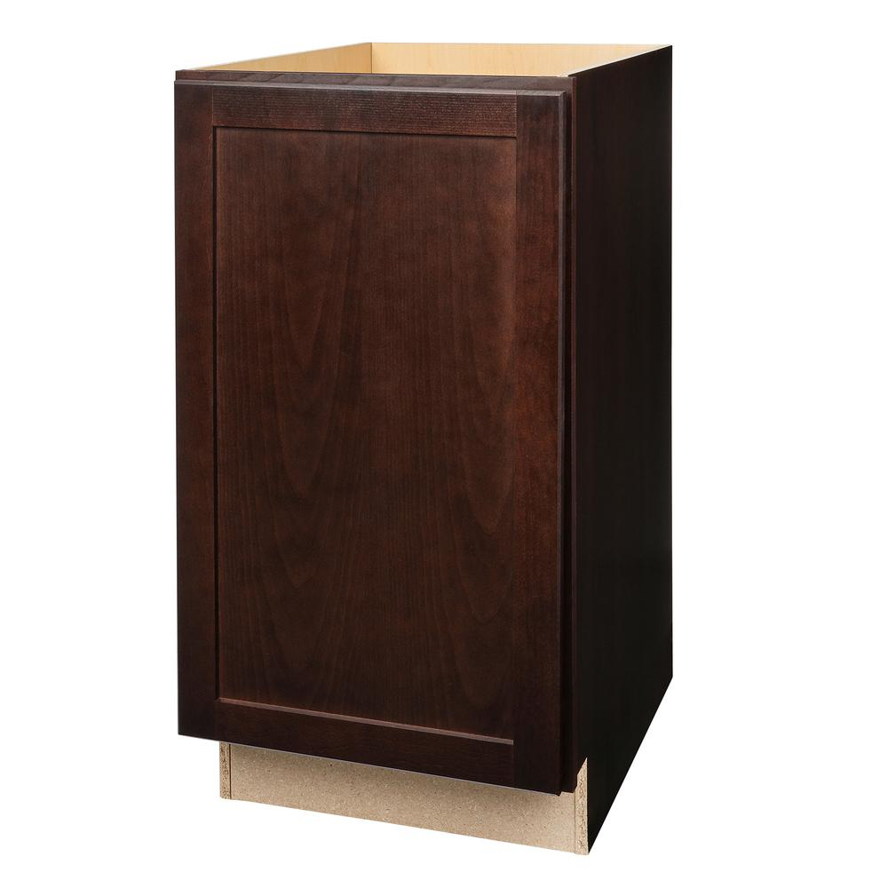 Pull out trash can base kitchen cabinet in java