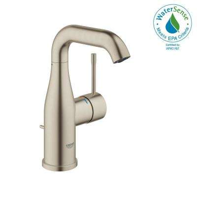 Essence New 4 in. Centerset Single-Handle 1.2 GPM Bathroom Faucet in Brushed Nickel InfinityFinish