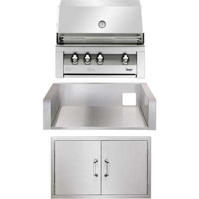 36 in. Built-In Natural Gas Grill in Stainless with Sear Zone, Double Access Doors and Insulated Jacket