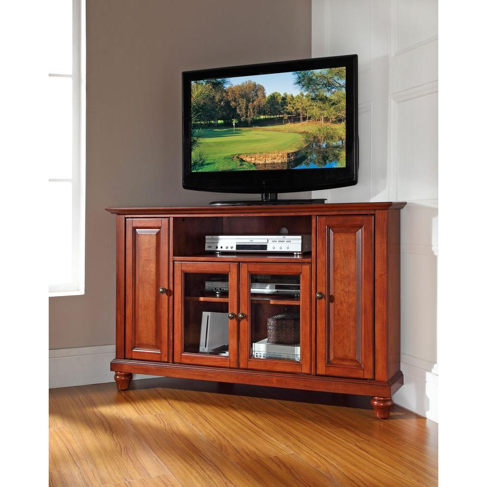 Crosley Cambridge Cherry Entertainment Center Kf10006dch The Home