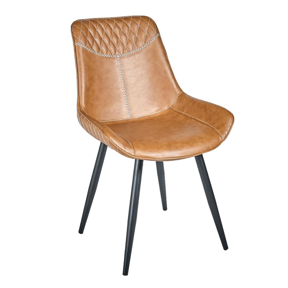 Safavieh Warner Brown Leather Dining Chair Set Of 2