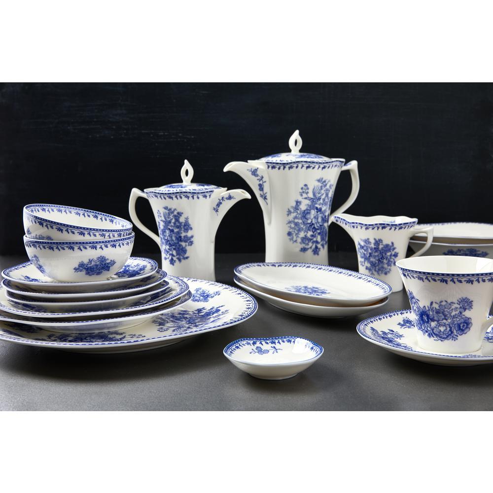 Oneida 12 Oz Blue Porcelain Blue Tea Pots With Lid Set Of 12 L6703061860 The Home Depot
