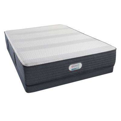 Platinum Hybrid Crestridge Plush Cal King Low Profile Mattress Set