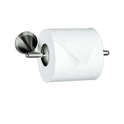 Finial Wall-Mount Double Post Toilet Paper Holder in Vibrant Polished Nickel