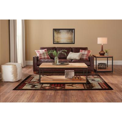 Valor Multi 4 ft. x 6 ft. Plaid Area Rug